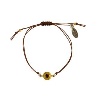 Hultquist Classic Macrame Bracelet Smoked Topaz Crystal 1485BI-BR