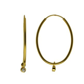 Hultquist Classic Astrid Hoop Earrings Gold S02012-G