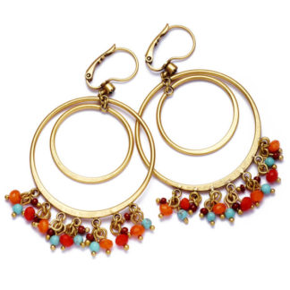 Hultquist Magical Tropical Hoop Earrings Gold 0100G