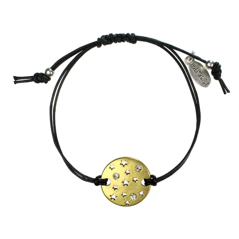 Hultquist Constellation Moon Disc Macrame Bracelet 1295BI