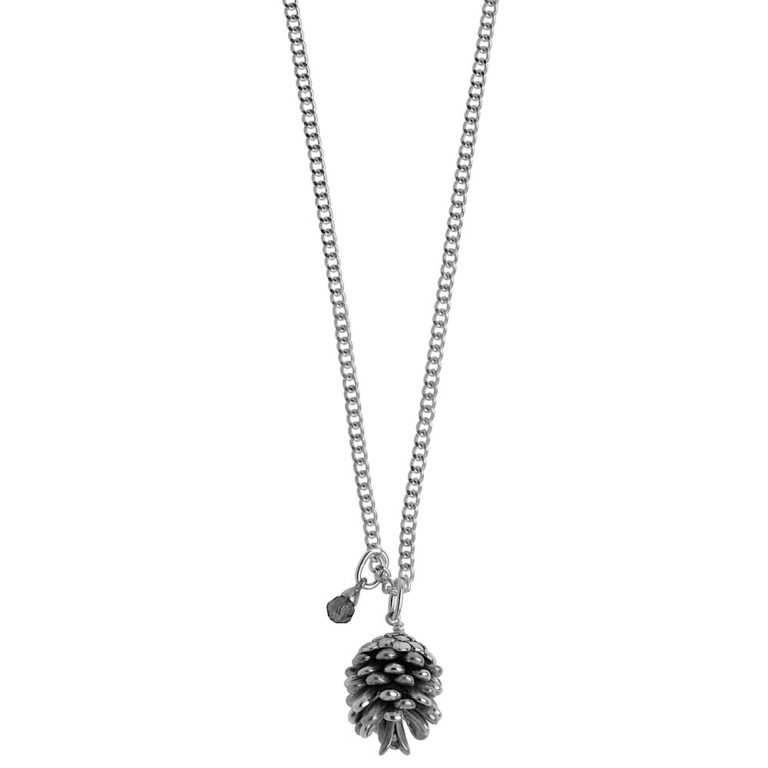 Hultquist Pine Cone Necklace Silver 0405S