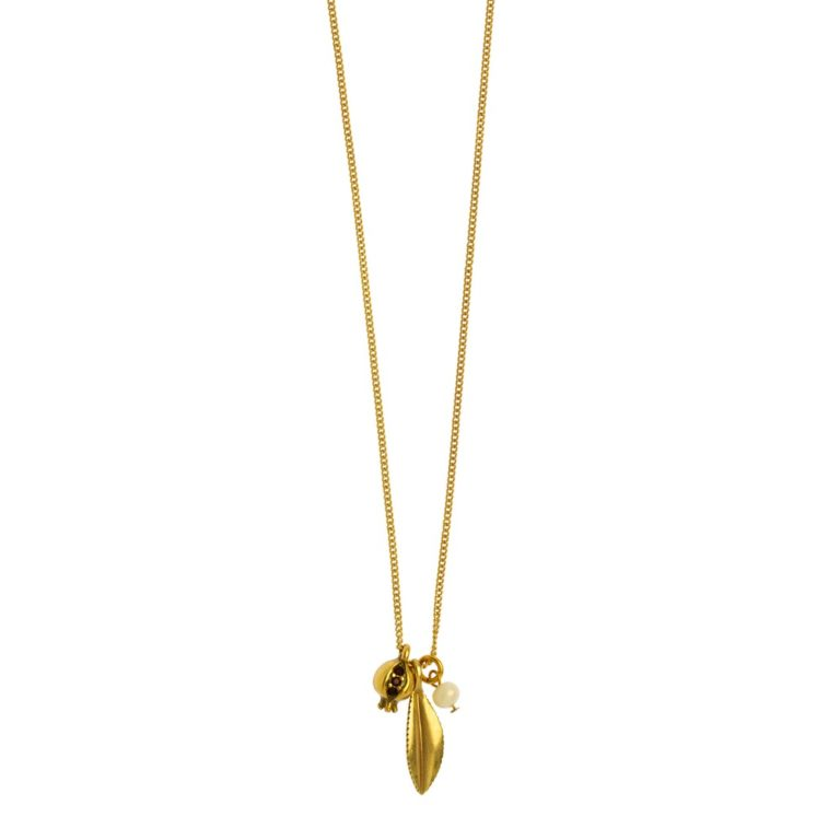Hultquist Short Pomegranate Necklace Gold 1461G