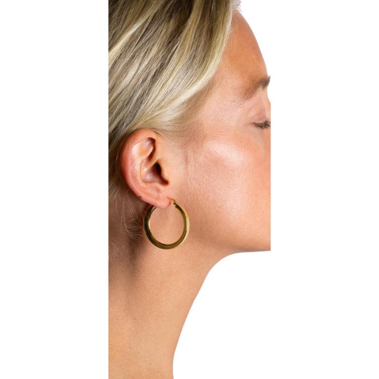Hultquist Aurora Hoop Earrings Gold S01002G