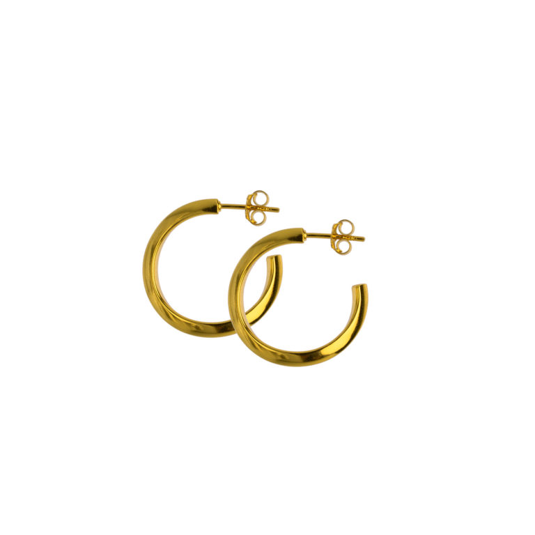 Hultquist Andrea Hoop Earrings Gold S01011G