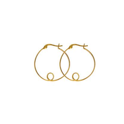 Hultquist Alva Hoop Earrings Gold S01014-G