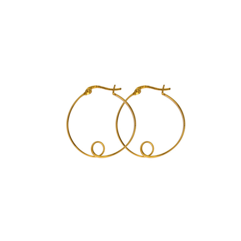 Hultquist Alva Hoop Earrings Gold S01014-G