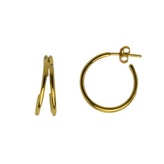 Hultquist Aya Hoop Earrings Gold S02014G