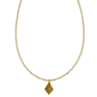 Hultquist Rhombus Necklace Gold 1441G