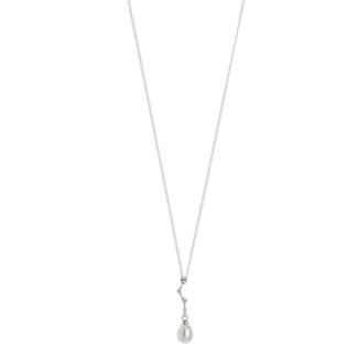 Hultquist Constellation Pearl Drop Necklace Silver 1456S