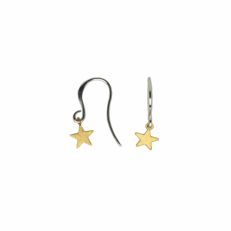 Hultquist Star Earrings Gold Silver 1469BI