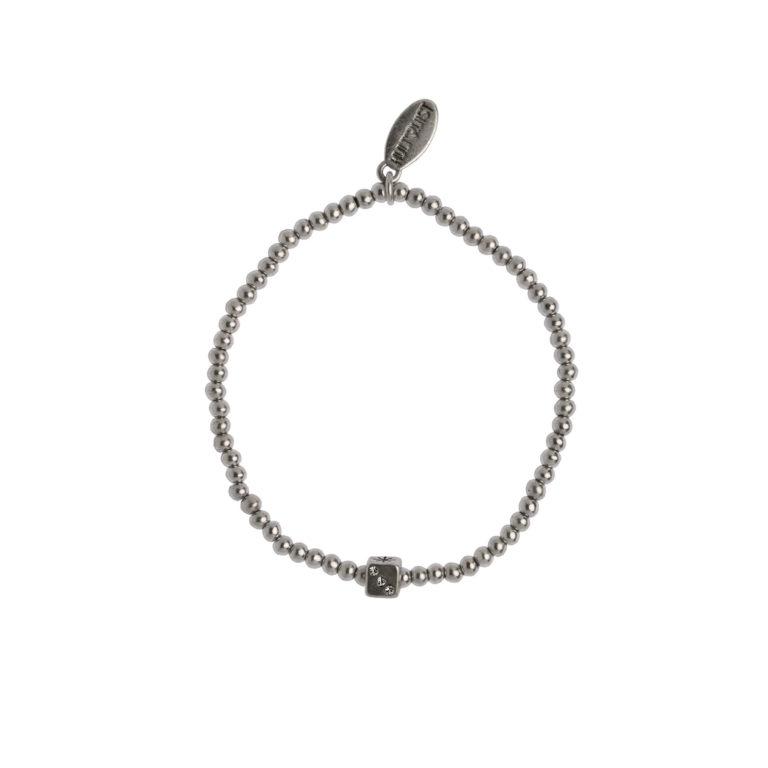 Hultquist Dice Elastic Bracelet Silver 1480S