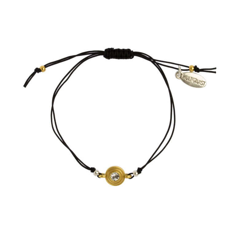 Hultquist Classic Macrame' Bracelet with clear crystal 1485BI