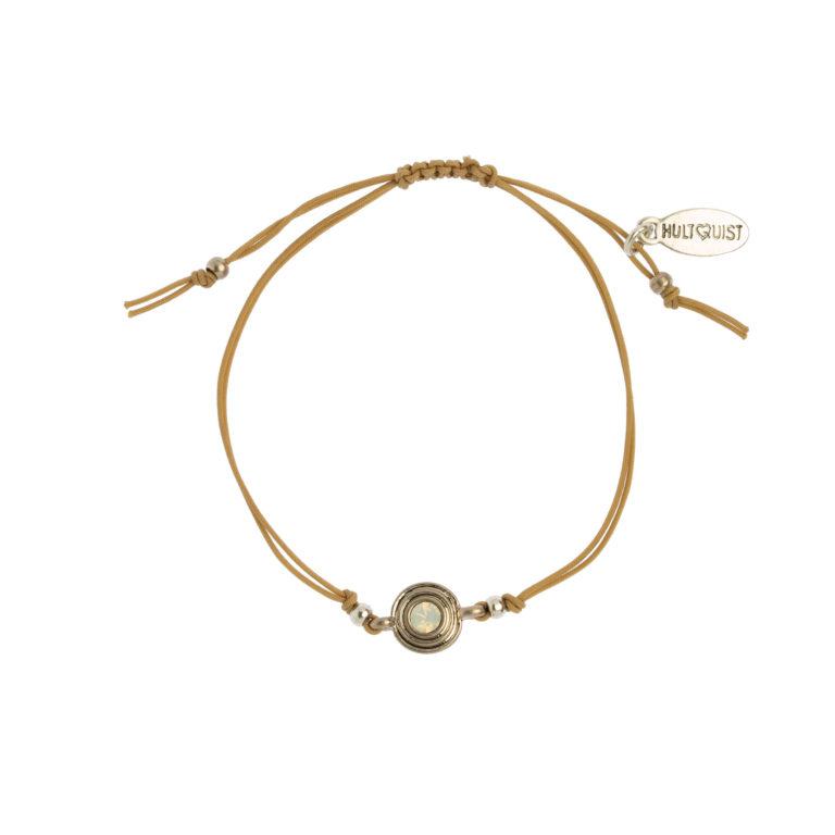 Hultquist Classic Macrame Bracelet Opal Crystal 1485RG