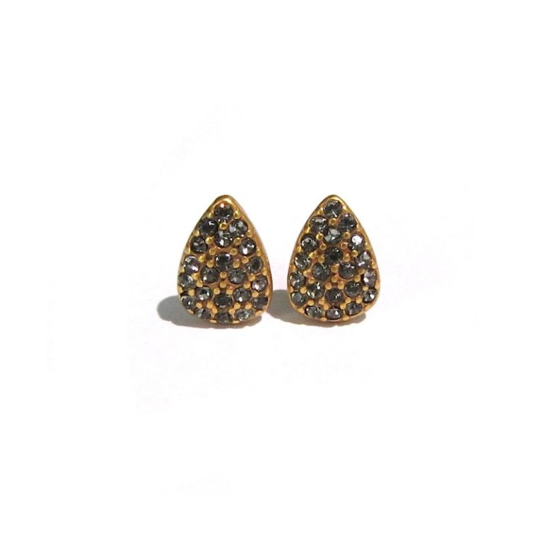 Hultquist Paw Print Stud Earrings Gold 0024G-G