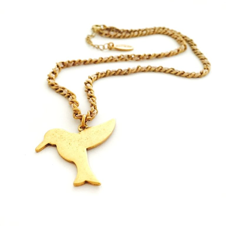 Hultquist Tropical Bird Necklace Gold 0069G-BE