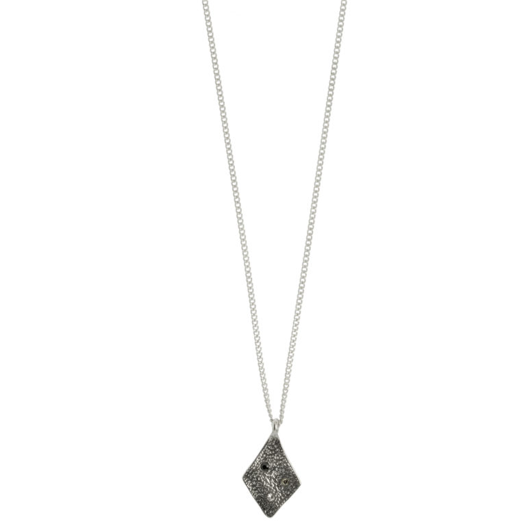 Hultquist Rhombus Necklace with Coloured Stones Silver 1442S
