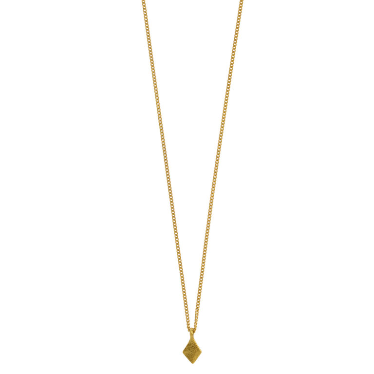 Hultquist Rhombus Small Pendant Necklace Gold 1443G
