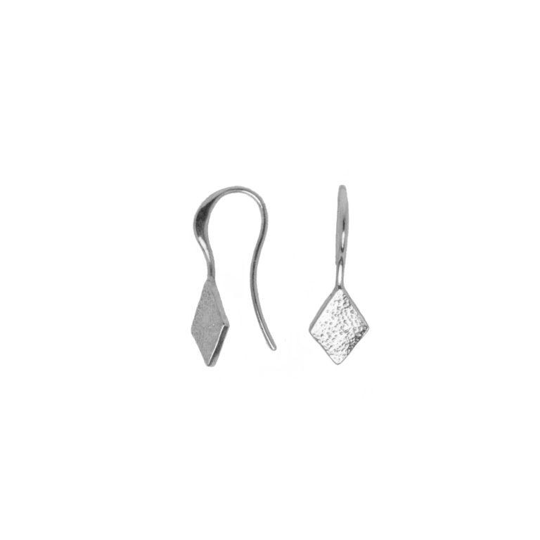 Hultquist Rhombus Hook Earrings Silver 1446S