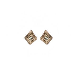 Hultquist Rhombus Stud Earrings Rose Gold 1447RG