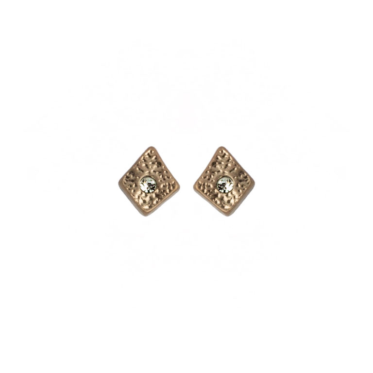 Hultquist Rhombus Stud Earrings Rose Gold 1447RG