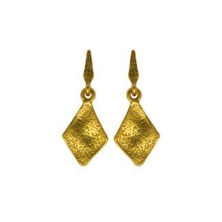 Hultquist Rhombus Drop Stud Earrings Gold 1450G