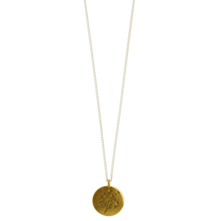 Hultquist Long Dandelion Necklace Gold Silver 1470BI
