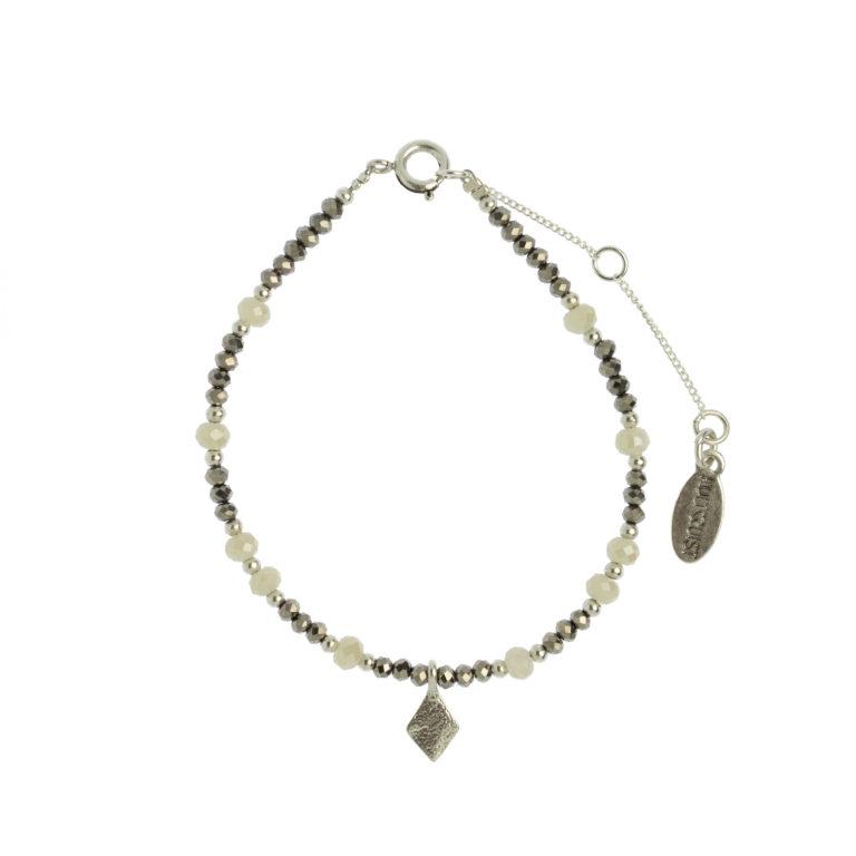 Hultquist Rhombus Bead Bracelet Silver 1475S