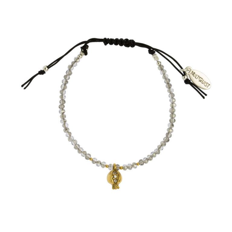 Hultquist Pomegranate Macrame' Bracelet Gold 1489BI