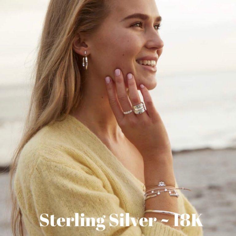 Sterling Silver / 14K & 18K