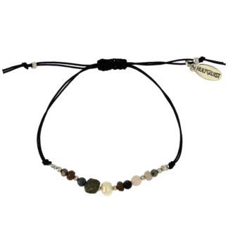 Hultquist Dorthea Macrame Bracelet Silver 1512S
