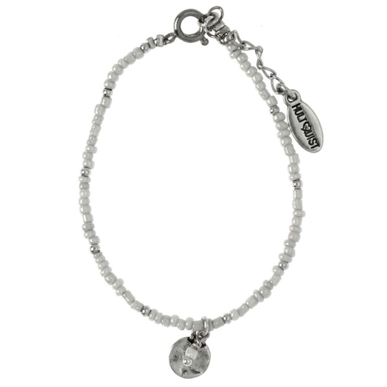 Hultquist White Coin Bracelet Silver 04378S
