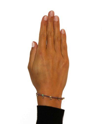 Hultquist Dilara Bracelet Silver Violet 1516S-VI