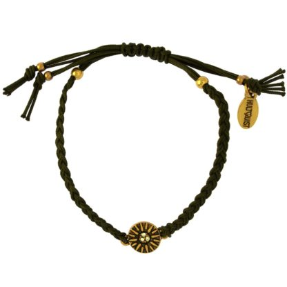Hultquist Dia Macrame' Bracelet Gold 1517G