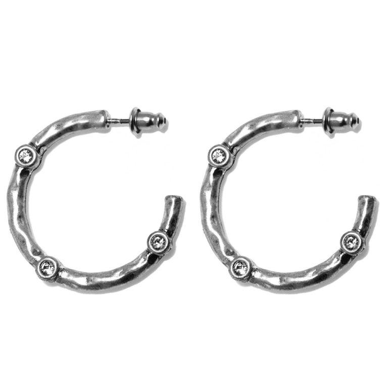 Hultquist Diala Hoop Earrings Silver 1534S