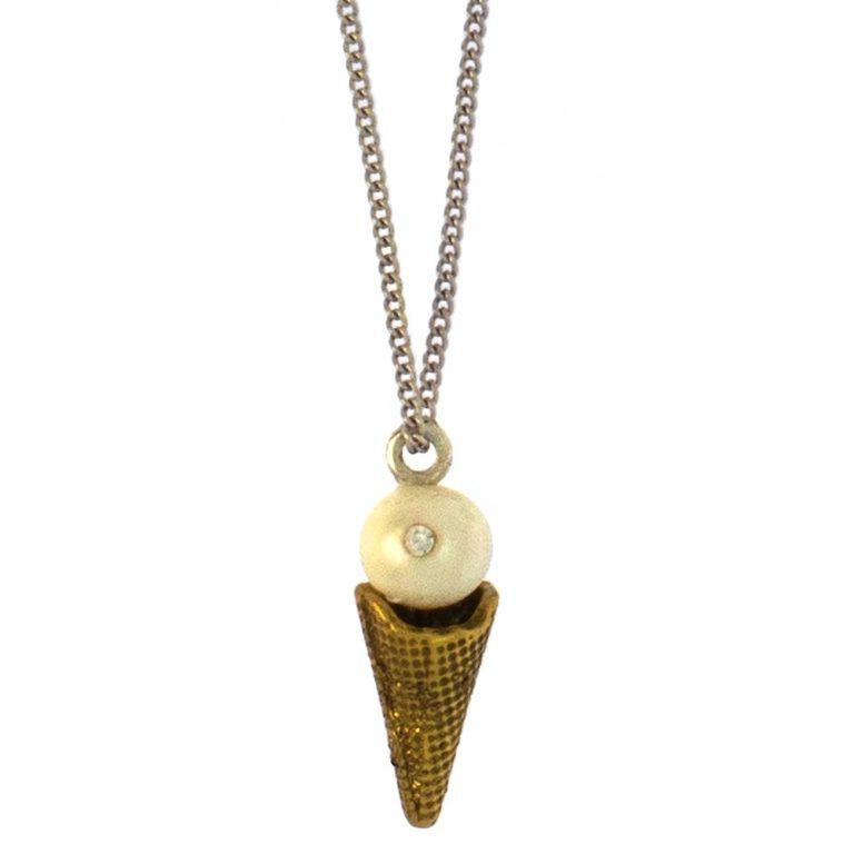 Hultquist Ice Cream Pendant Necklace 1536BI