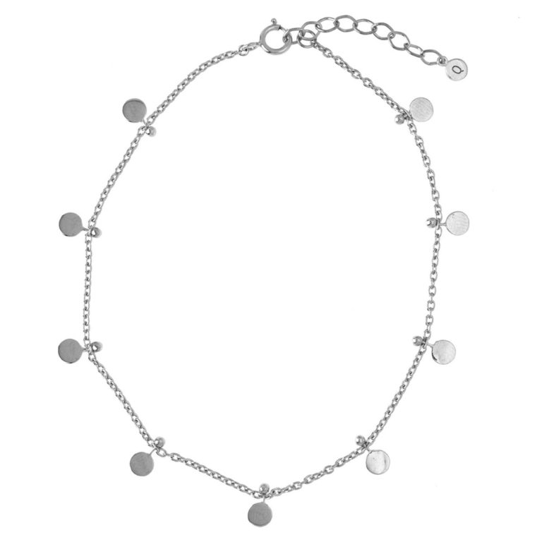 Hultquist Mini Coin Anklet Silver S02043S