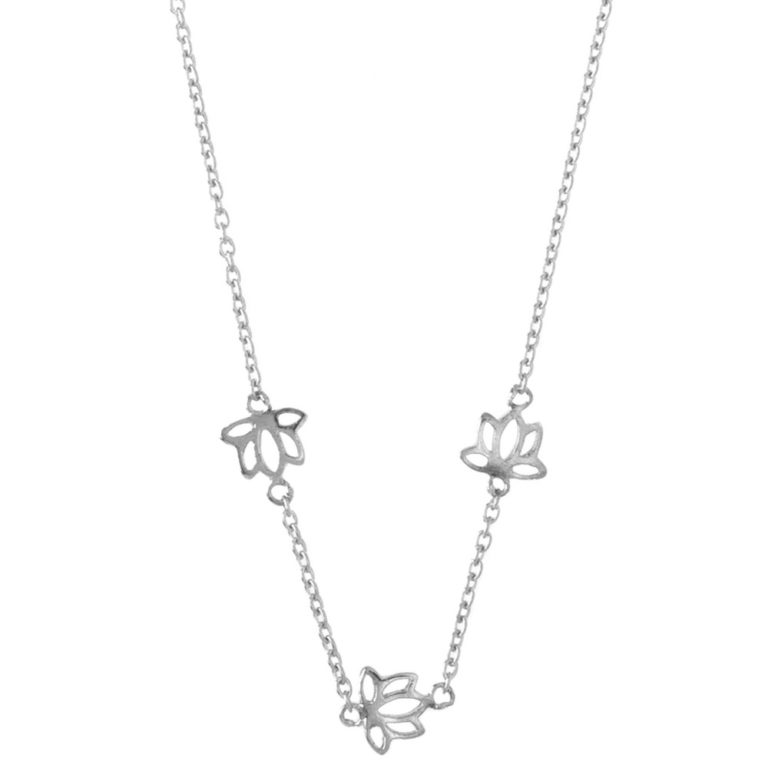 Hultquist Lotus Necklace Sterling Silver S03002S
