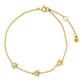 Hultquist Lotus Chain Bracelet Gold S03003G