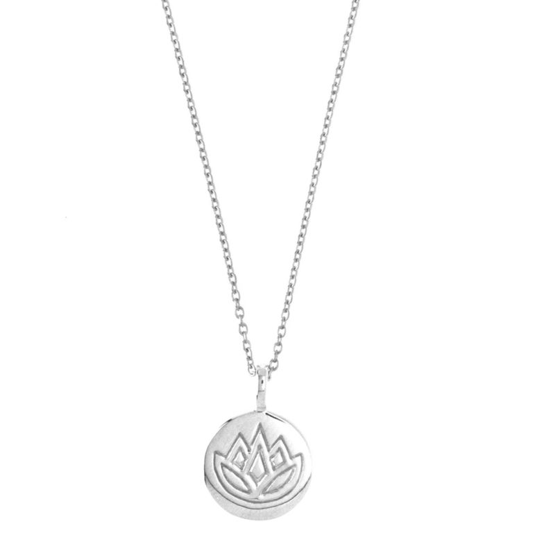 Hultquist Lotus Engraved Necklace Sterling Silver S03010S