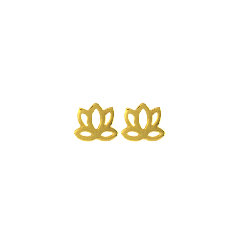 Hultquist Lotus Mini Stud Earrings Gold S03004G