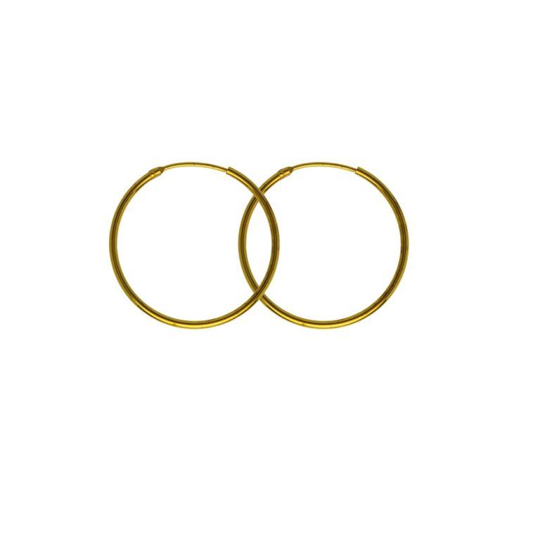 Hultquist Aisha Hoop Earrings Gold S01020G