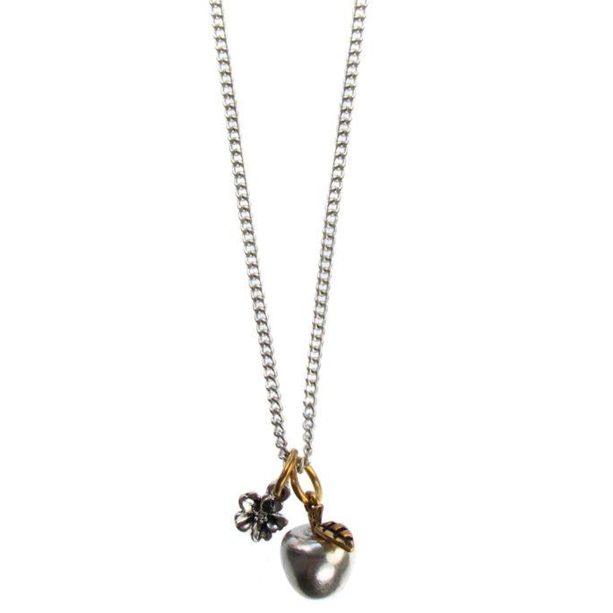 Hultquist Apple Long Chain Necklace BiColour 04489BI