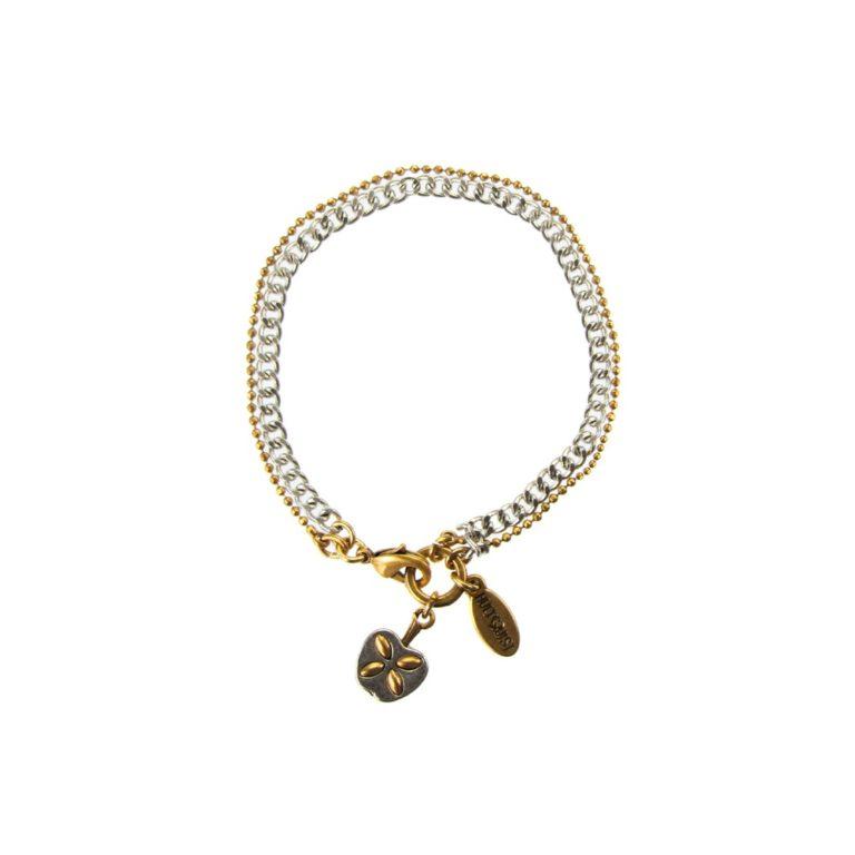 Hultquist Apple Chain Bracelet BiColour 04493BI