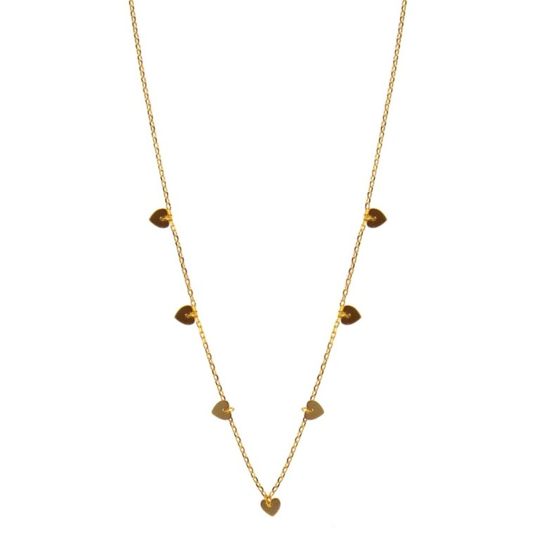 Hultquist Heart Necklace Gold 61001G