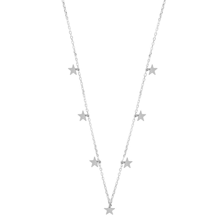 Hultquist Stars Necklace Silver 61004S