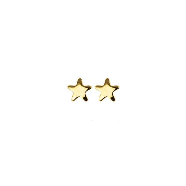 Hultquist Stars Stud Earrings Gold 61006G