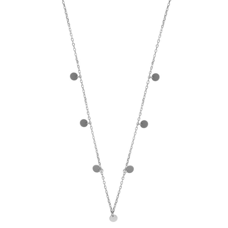 Hultquist Coin Necklace Silver 61013S