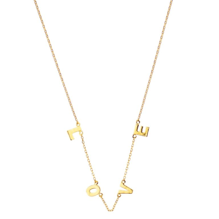 Hultquist Love Letter Necklace Gold 61016G