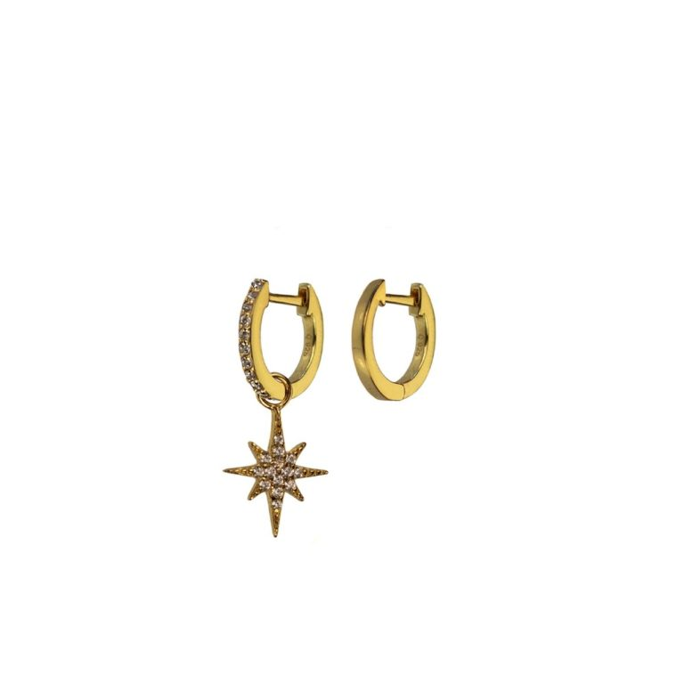 Hultquist Northern Star Earrings Gold