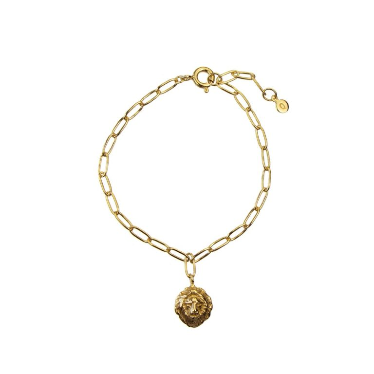 Hultquist Lions Head Bracelet Gold